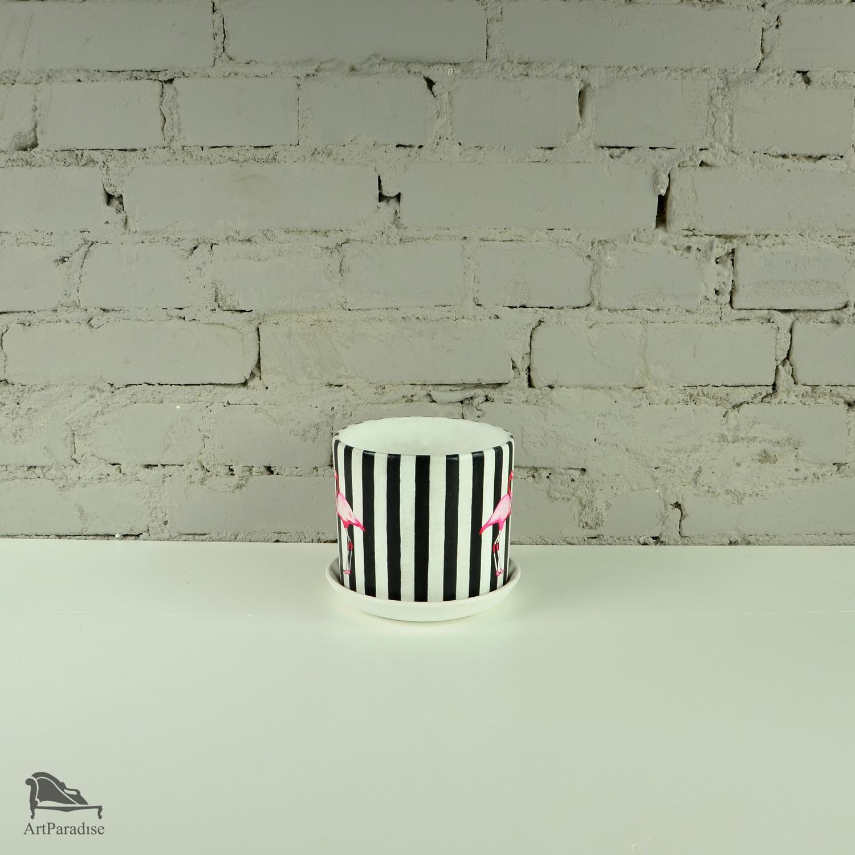 Doniczka Różowe Flamingi Doniczki Ceramika Art
