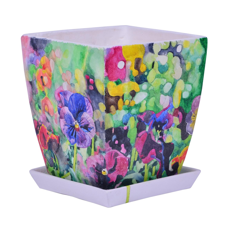 Doniczka Kwiaty W Kolorze Tęczy Doniczki Ceramika