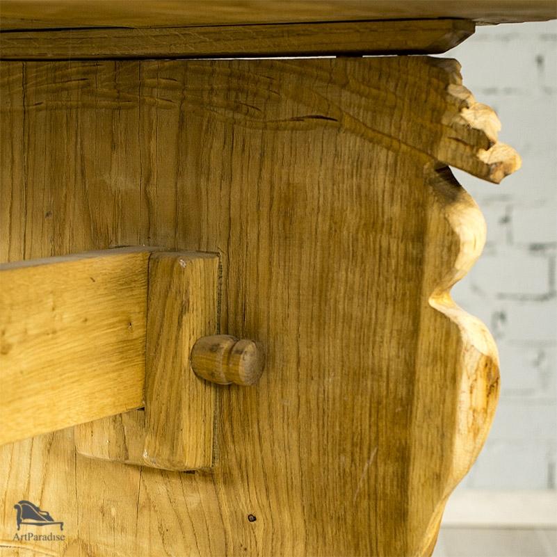 Niesamowite Rzeźbiony stół dębowy - Góralski klimat - STOŁY, STOLIKI I ŁAWY NK53