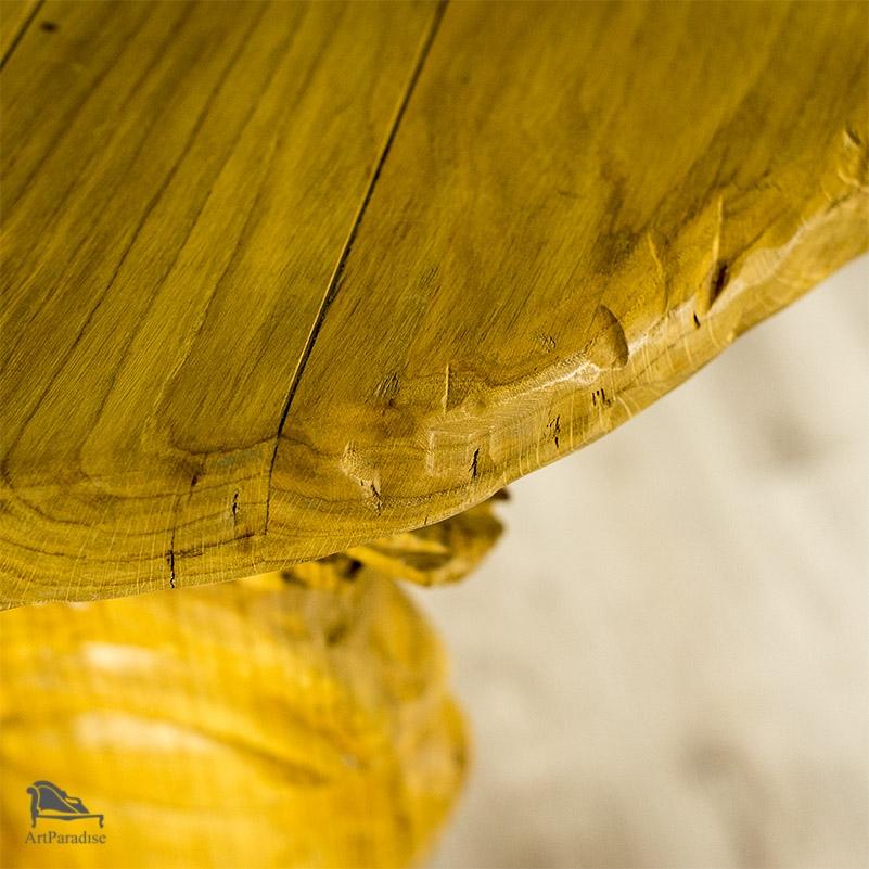 Oryginał Rzeźbiony stół dębowy - Góralski klimat - STOŁY, STOLIKI I ŁAWY TH36